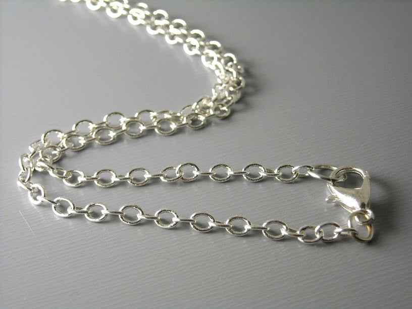 Solid Silver Plated Brass Necklace - Choose your length