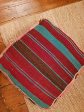 Vintage Moroccan Faded Pink Boujaad Carpet Pouffe