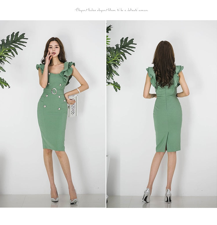 summer solid color pencil dress Creationsg