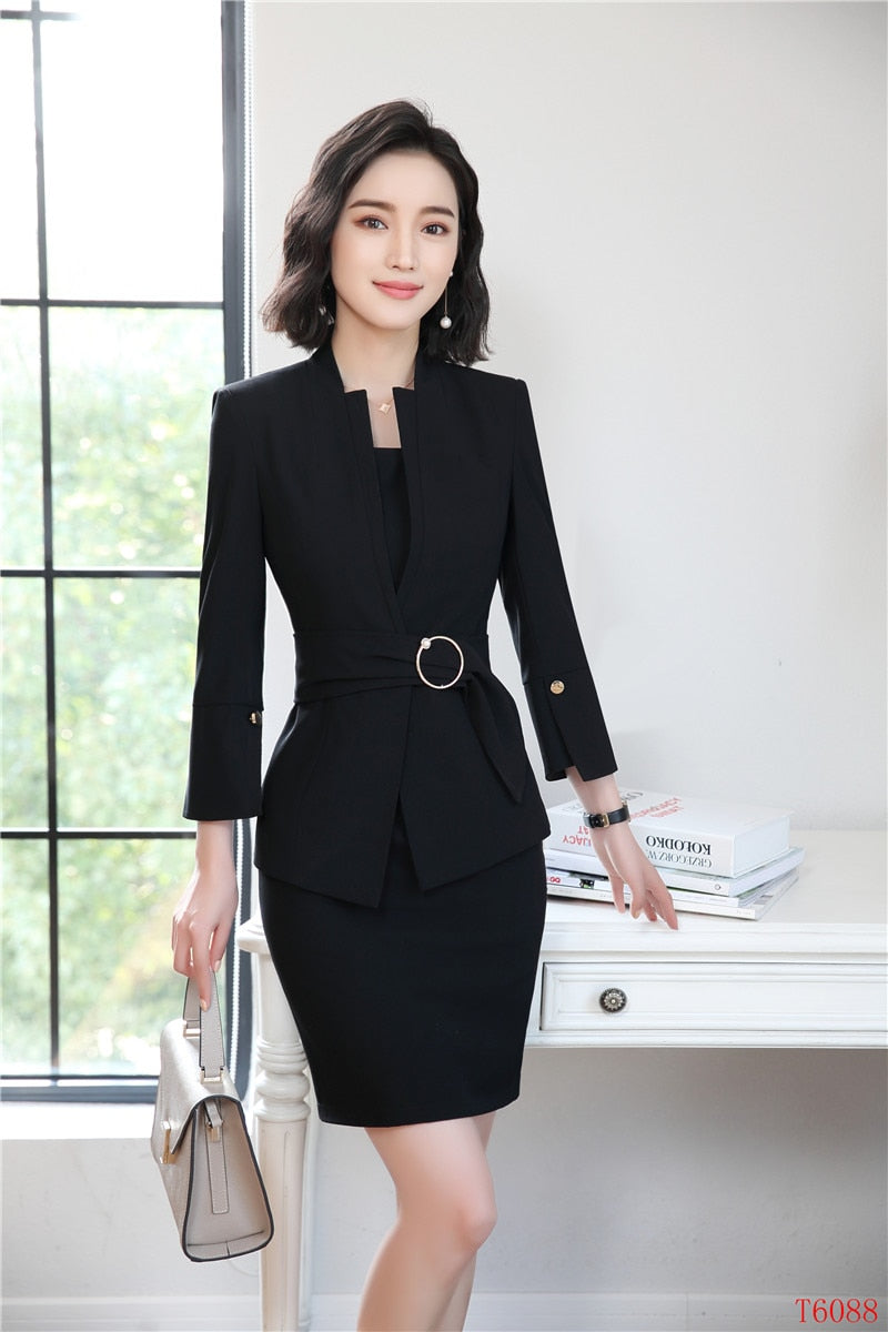 Formal Business Suits Blazers With Jackets And Dress For Women Office Work Wear Sets Creationsg