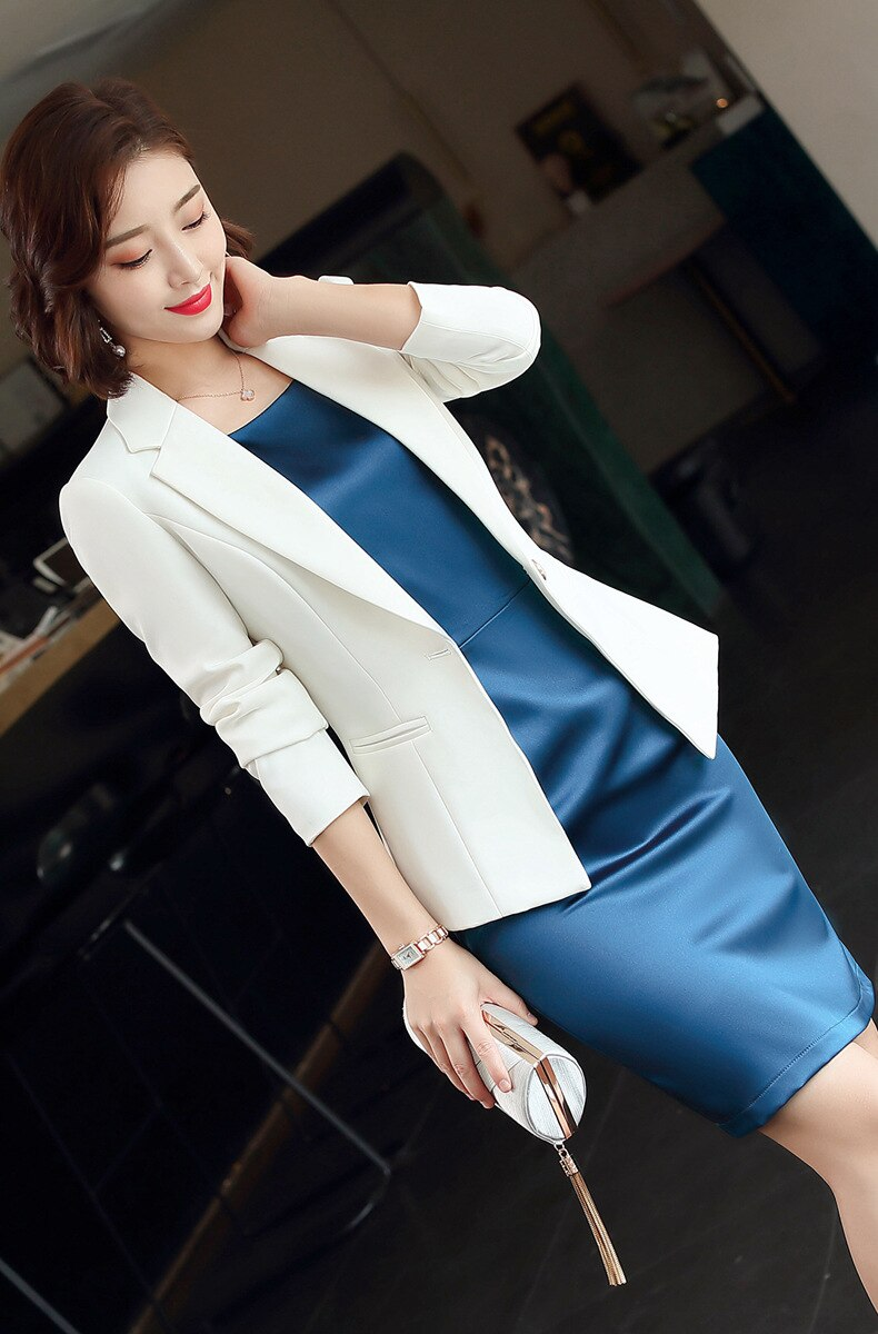 Plus Size Formal Dress Suits Women 2 Piece Office Ladies Business Work Wear Creationsg
