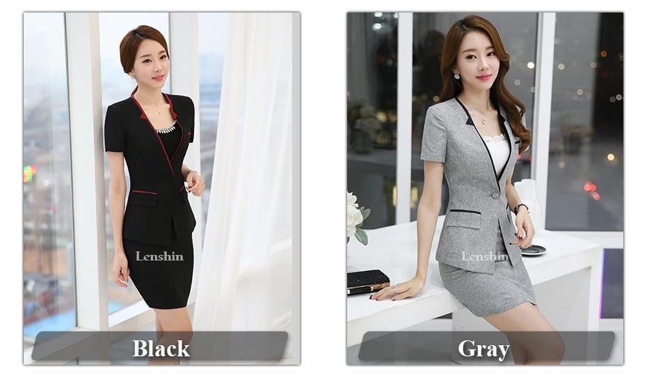 2 Pieces Set Contrast Collar New Summer work wear Creationsg