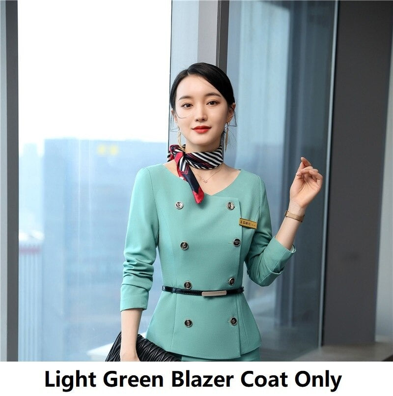 Women Business Suits with 2 Piece Set Tops and Skirt OL Styles Blazers Set Creationsg