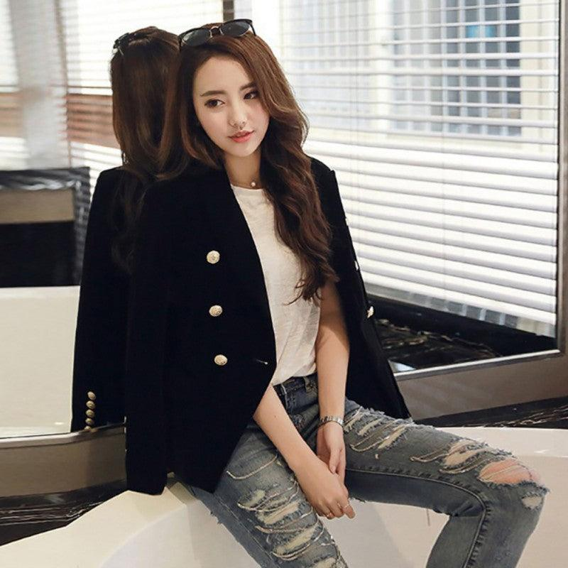 Autumn Velvet Blazer OL Formal Work Slim Long Sleeve ladies Blazers Creationsg