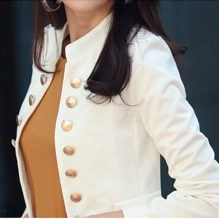 creationsg - 2018 Spring Short Suit Double Breasted OL Women Short Blazer Jacket