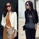 Spring Short Suit Double Breasted OL Women Short Blazer Jacket Creationsg