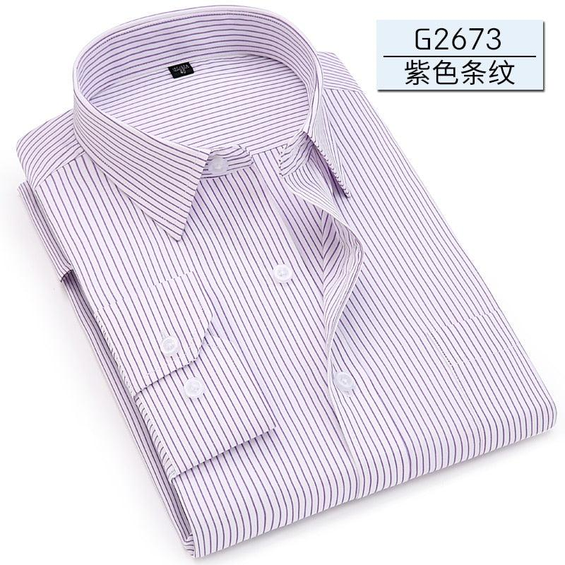 Autumn Classic Men Striped Dress Shirt Long Sleeve Mens Business Shirts Creationsg