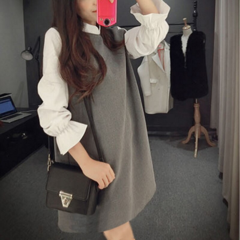 Casual Turtleneck Dress Loose Dress Creationsg