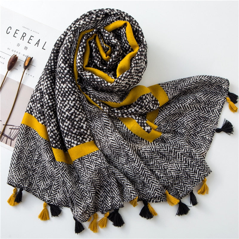 Ladies Fashion Viscose Shawl Scarf Creationsg