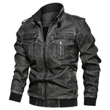 Autumn Winter PU Leather Jacket Men Slim Fit Mens Motorcycle Jacket Creationsg