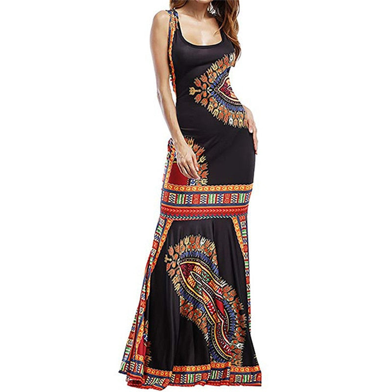 New Bohemian Sleeveless Boho Long Maxi Dress Summer Creationsg