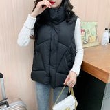 2020 New Autumn Winter Female Light Down Sleeveless Jacket Vest Creationsg