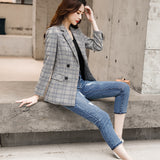 Vintage England Style High-quality Plaid Coat Creationsg