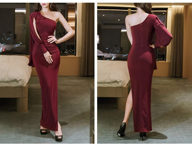 Maxi Long Occasion Dress Women Sexy Bodycon Cloth