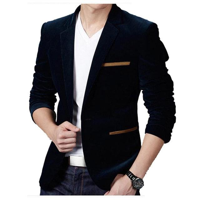 Autumn Spring Fashion Male Slim Fat Casual Suit Jacket Creationsg