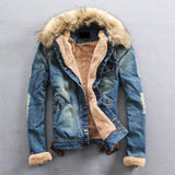 creationsg - CLASSDIM Men Thicker Warm Denim Coats Men Casual Jean Jackets
