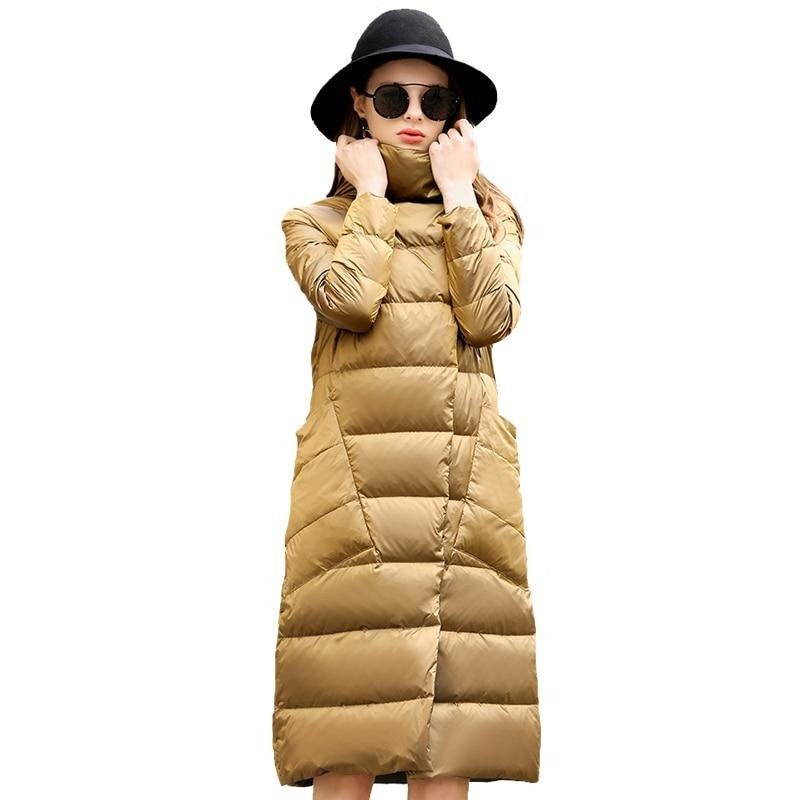 Duck Down Outerwear Coats Female Long Casual Light jacket Creationsg