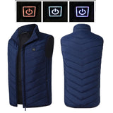 Electric Heated Vest Men Women Heating Waistcoat Thermal Warm Clothing Heated Jacket