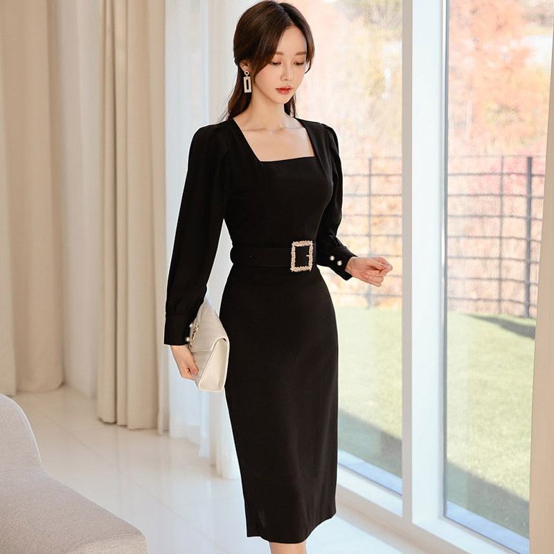 Fashion Dress Women Spring Dresse Casual Office Elegant Business Creationsg