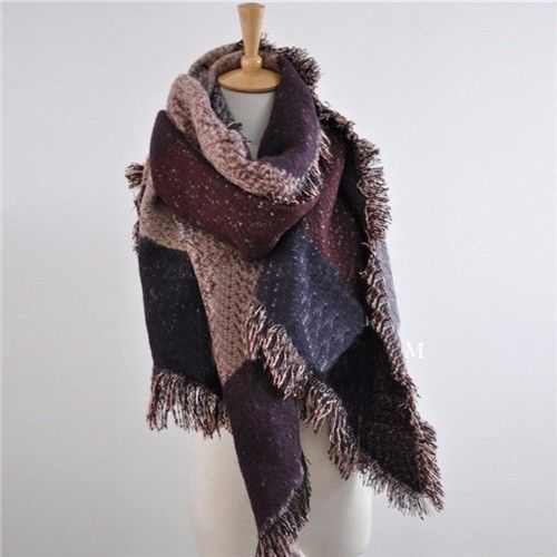 Soft Warm Plaid Scarf Wrap Shawl Plaid Scarf Creationsg