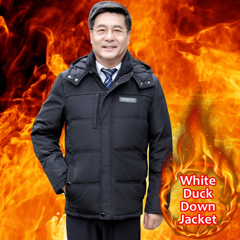 Fashion Warm Thick Winter 90% White Duck Down Jacket For Men Coat Creationsg