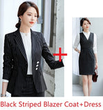 Formal Uniform Styles Women Blazes Business Suits With Tops And Dress Creationsg