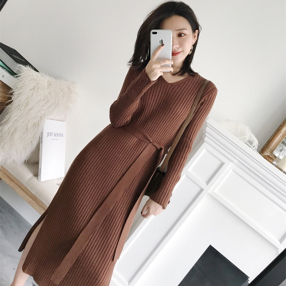 Korean Fashion Sweater Dress Women Sweaters Creationsg