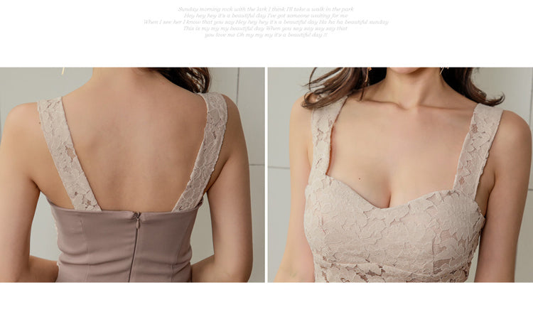 creationsg - H Han Queen Halter Strapless Summer OL Lace Pencil Dress