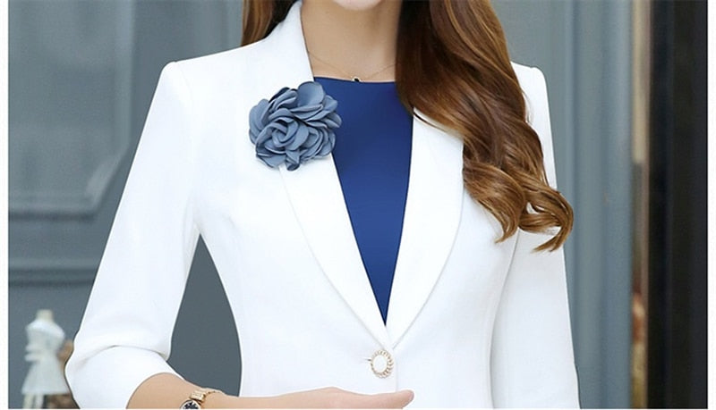 OL Work Office Lady Dress Suits 2 Piece Sets Elegant Women Blazer Jacket + Sheath Dresses Creationsg