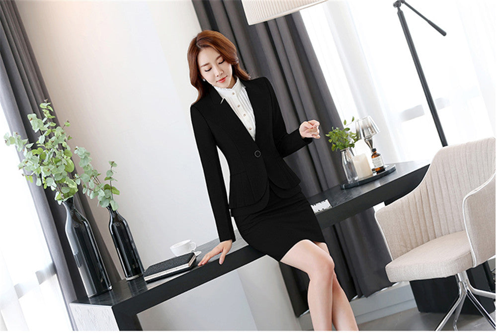 Business suit office uniform designs women skirt suit woman work suit Creationsg