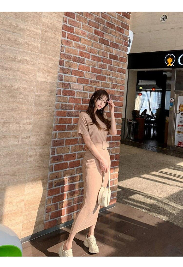 creationsg - 2019 Summer High Elastic Bodycon Long Dress Batwing Sleeve Knitted Dress