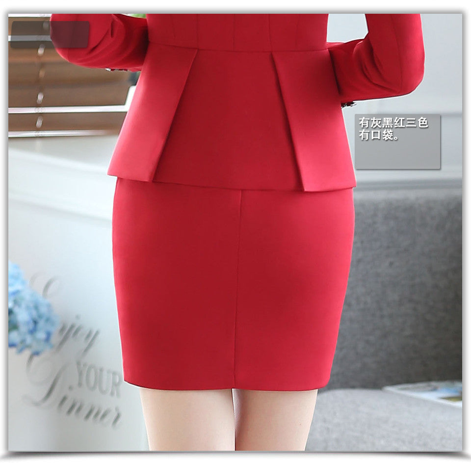 creationsg - Women Work Wear Pencil Formal Skirts Gray Mini Solid Lady Above Knee