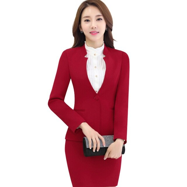 female set business elegant work uniforms blazer with skirt suits Creationsg