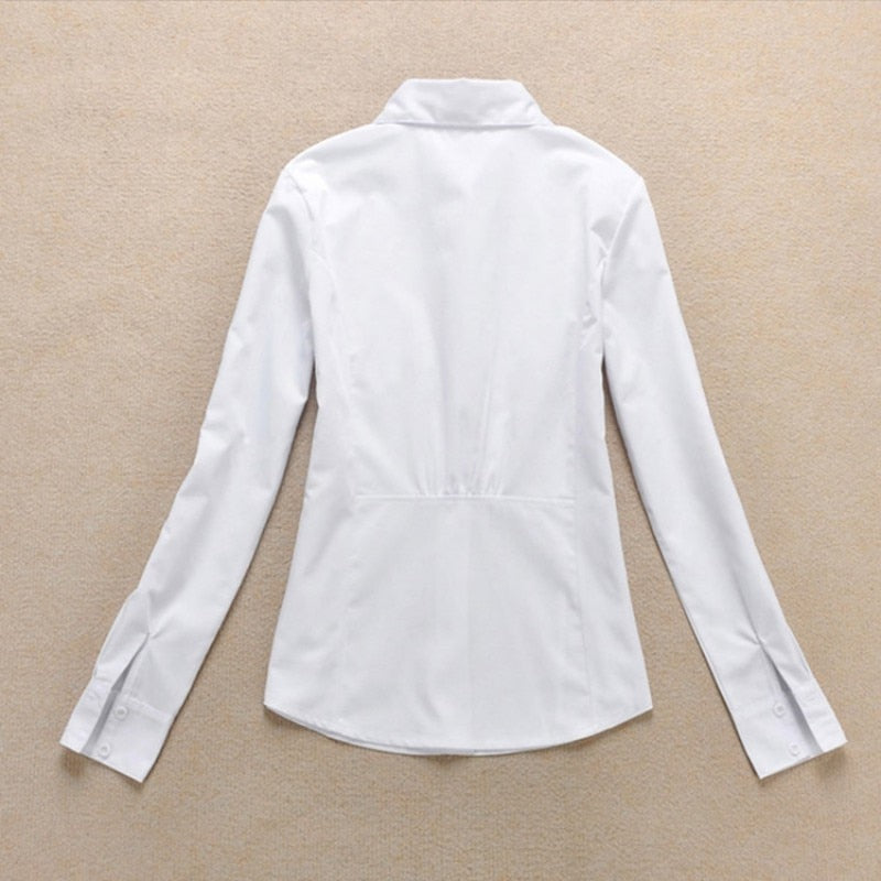 OL Shirt Long Sleeve Collar Button Lady Short Sleeve Creationsg