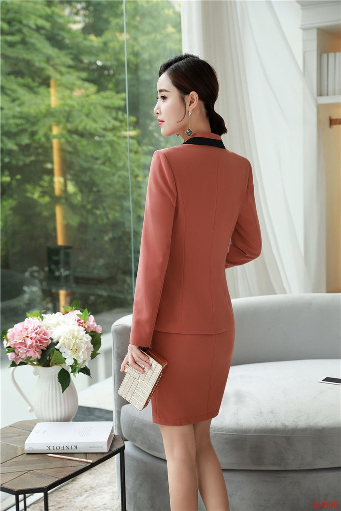creationsg - 2019 Spring Autumn Formal Uniform Designs Business Suits With Jackets And Dress