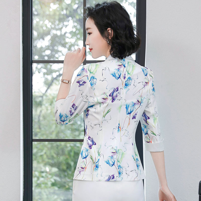 Suit Jacket Female Blazer Women Elegant Office Lady Blazer Spring Jacket Outwear Creationsg