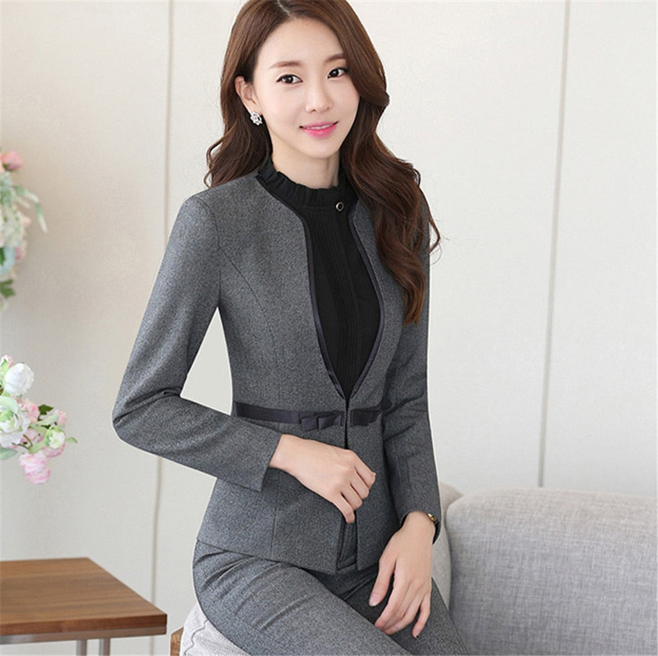 Women business suits long sleeve fashion elegant office ladies suit Creationsg