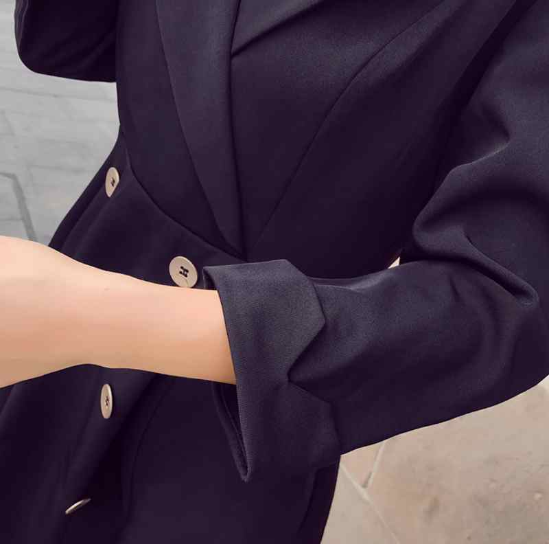Elegant 2019 New Fashion Womens Dress Suits Streetwear Long Double Breasted Coats Creationsg