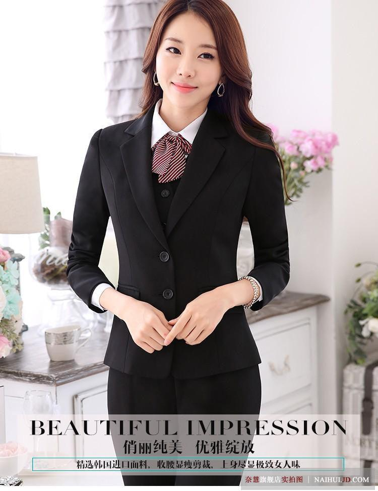 2 Pieces Set Women Standard Pant Suits Business Office Lady Work Wear Creationsg