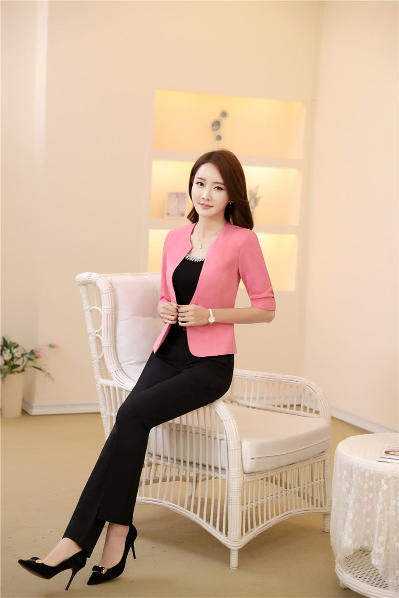 Elegant Pink Professional Business Suits With Jackets And Pants Creationsg