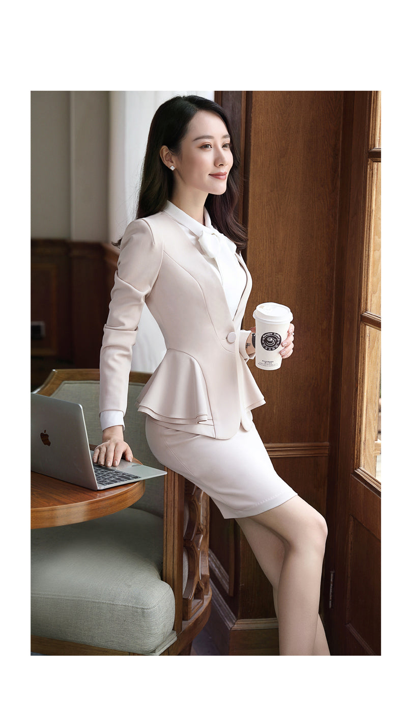 NEW Spring women's suit pants Long-sleeve business office ladies clothes set for work Creationsg
