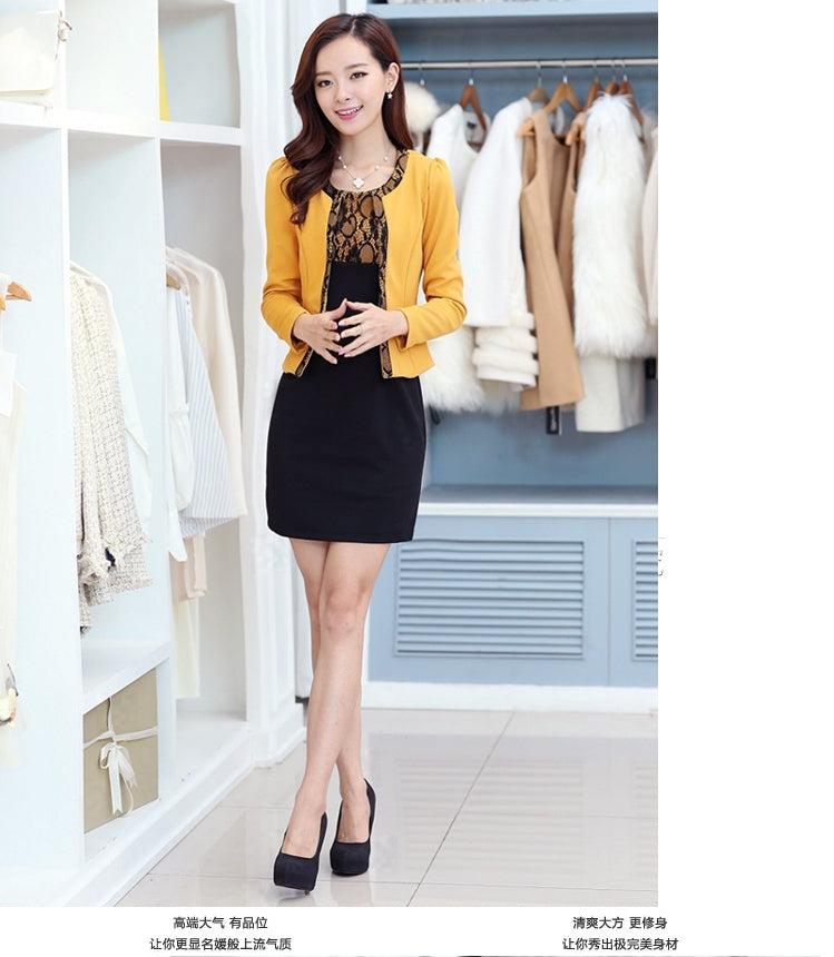 New Two-piece Dress Long Section Large Yard Women Slim Thin Long-sleeved Dress Bottoming Creationsg