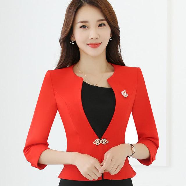 OL Traditional Classical Half Sleeve Female Women Blazer Jacket Creationsg