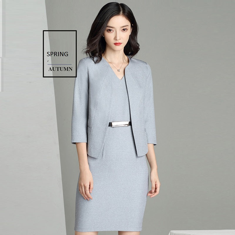 High Quality Spring Autumn Woman Business Dress Suit Set Creationsg
