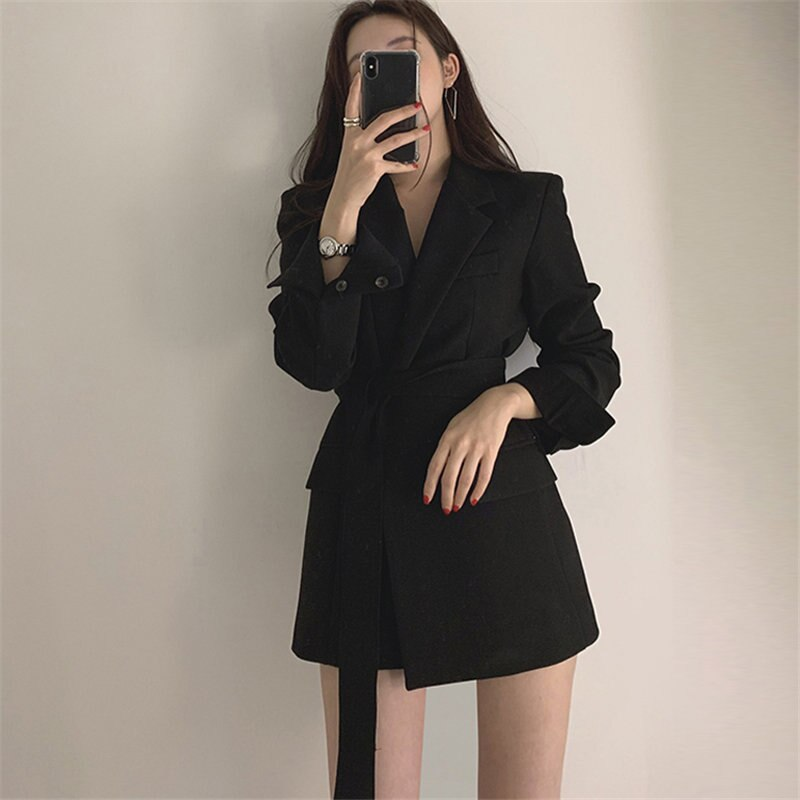 Sashes Belt Large Size Office Lady Women Elegant Blazers Creationsg