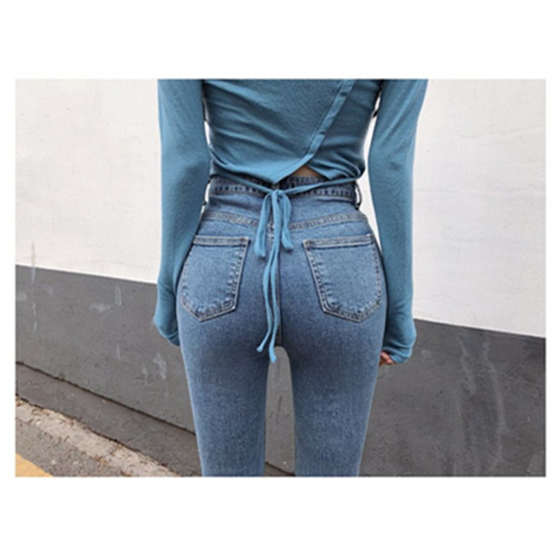 Push Up Jeans Skinny Button Zipper Clothing New Fashion Sexy Pencil Pants Creationsg