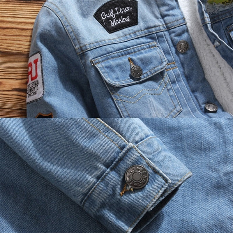 LBL Fleece Inner Denim Jacket Creationsg