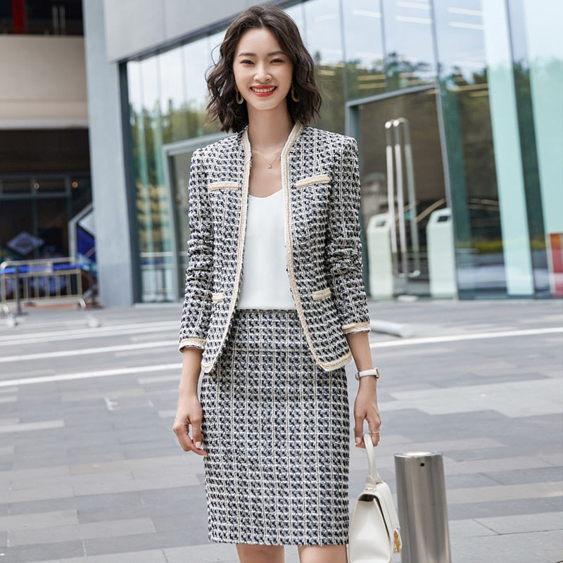 OL Styles Formal Women Business Suits with Skirt and Jackets Coat Blazers Set Creationsg