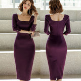 Summer Women Solid Color Elegant vestidos Business Dress Creationsg