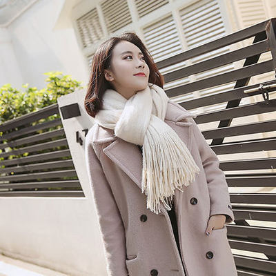 High quality knit comfortable warm thick long scarf Creationsg